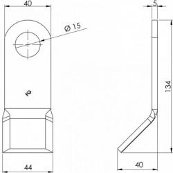 Couteau entretien 105 - 140.40.5 plan