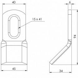 Couteau biseauté 110 - 40.6 BD plan