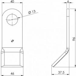 Couteau entretien 112 - 40.6 plan