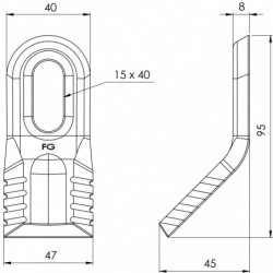 Couteau ravageur 128 - 408RL plan