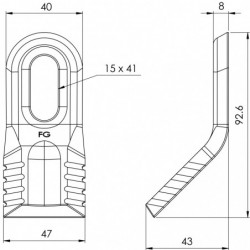 Couteau ravageur 129 - 408R plan