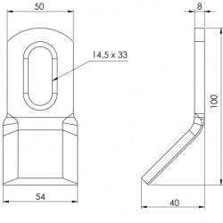 Couteau biseauté 140 - 105.50.8 plan