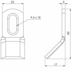 Couteau biseauté 176 - 60.25.5 plan