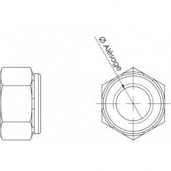 Ecrou M12 (pas fin) plan